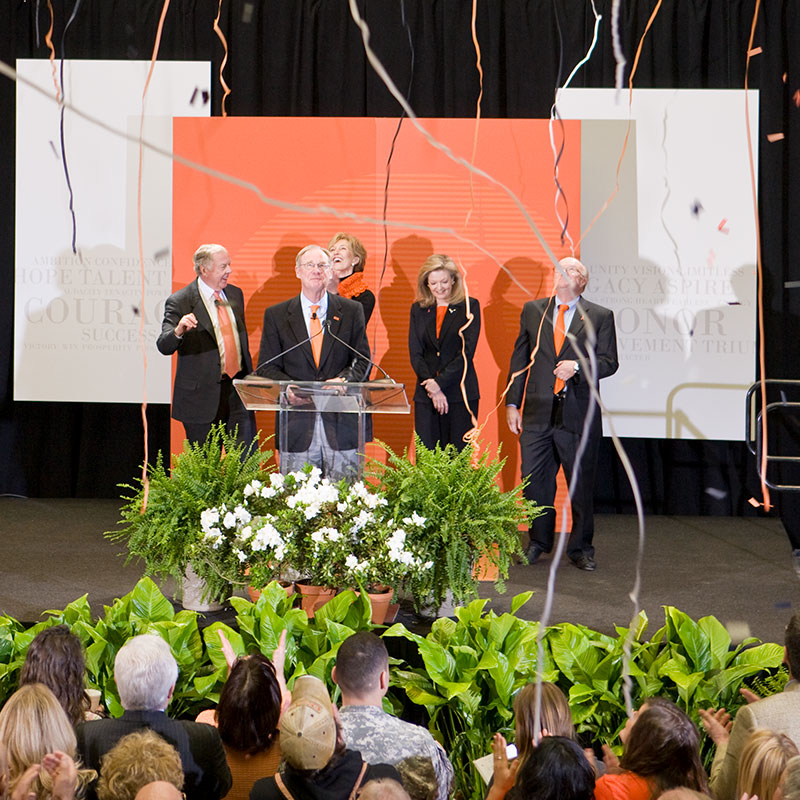 Burns hargis and donors announce Branding Success campaign
