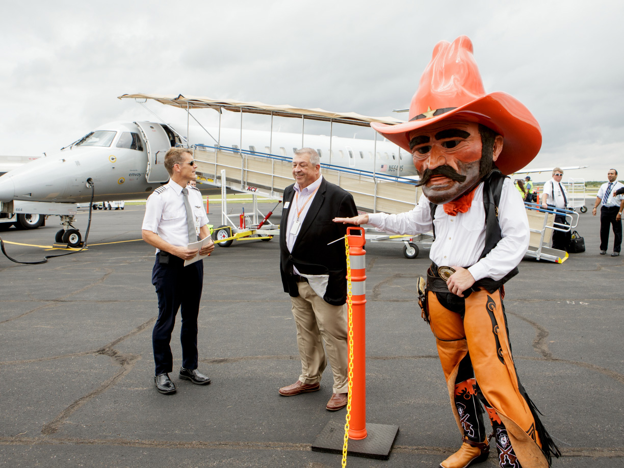 Pistol Pete at the Stillwater Airport