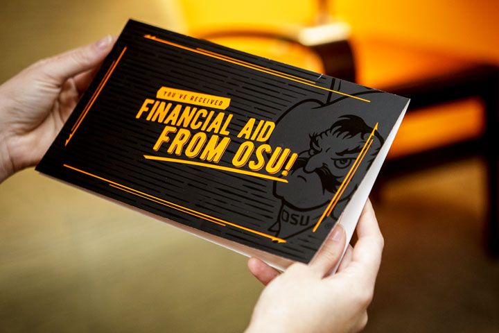 You have received financial aid from OSU, greeting card to student