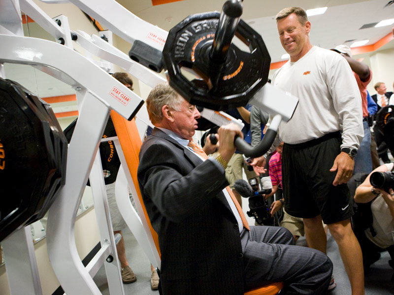 Boone tests gym machine in BPS