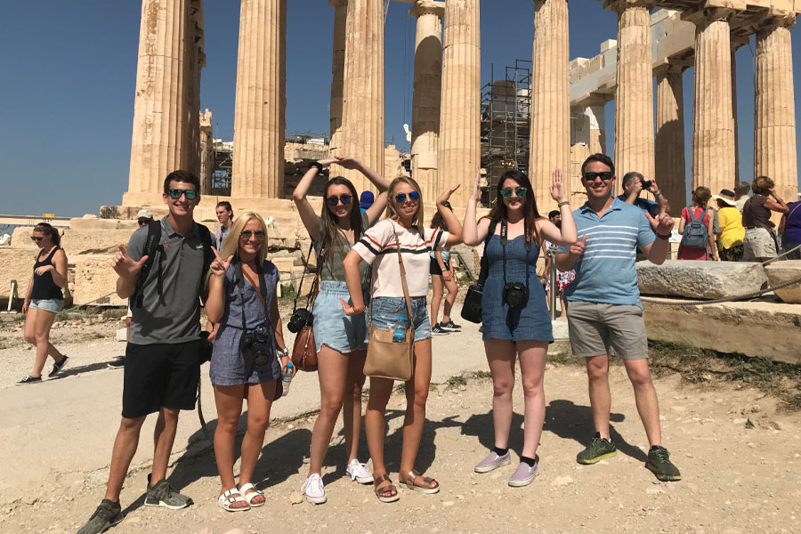 International Business students on a study abroad trip