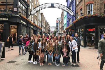 Merchandising students studying abroad
